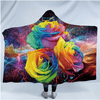 Colorful Roses Hooded Blanket Hooded Blanket BeddingOutlet Adults 150(H)x200(W)