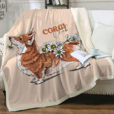 Corgi Fluffy Throw Blanket Throw Blanket BeddingOutlet 75cmx100cm