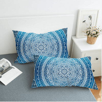 Crystal Arrays Blue Pillow Case Pillowcases BeddingOutlet 50cmx75cm