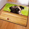 Cute Animal Dog Printed Rugs Door & Floor Mats HUGSIDEA 400mm x 600mm