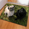 Cute Black White Dog Rugs Door & Floor Mats HUGSIDEA 400mm x 600mm