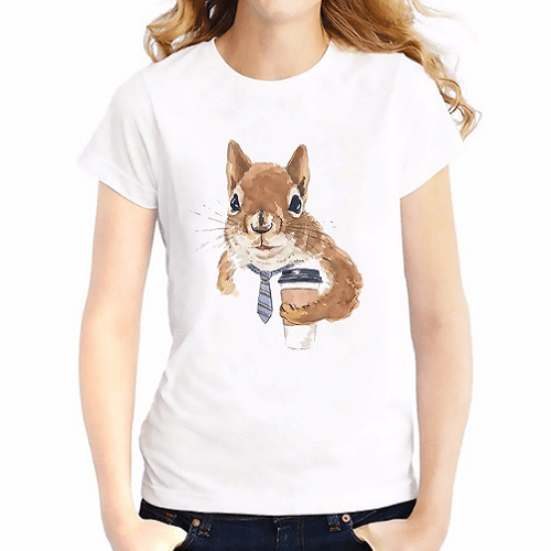 Cute Rabbit Sleeve Breathable Women T-Shirts Women T-Shirts JollyPeach S
