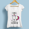 Cute Unicorn Farting Rainbow Women T-Shirts Women T-Shirts JollyPeach S