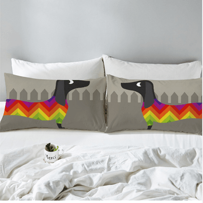 Dachshund Sausage Puppy PillowCase Pillowcases BeddingOutlet 50cmx75cm