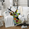 Deer Animal Printed Throw Blanket Throw Blanket BeddingOutlet 130cmx150cm