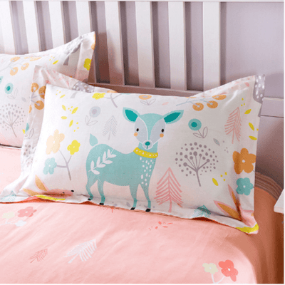 Deer Cartoon Duvet Cover and Pillowcases Bedding Cover Set Svetanya