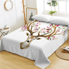 Deer Printed Animal Flat Sheet Bedding Covers Sheets BeddingOutlet Twin