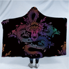 Dragon Totem Hooded Blanket Hooded Blanket BeddingOutlet Adults 150(H)x200(W)
