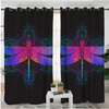 Dragonfly Mandala Living Room Curtains Window Curtain BeddingOutlet 132x213cm per piece B(2 Pc )