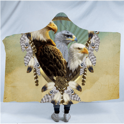 Eagle Collection Hooded Blanket Hooded Blanket BeddingOutlet Kids 127(H)x152(W)