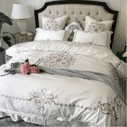 Egyptian Cotton Quilt Cover Sets Embroidered Bed Set Svetanya AU single