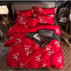 Egyptian Red Blossom Duvet Cover Set Bedding Cover Set Svetanya single