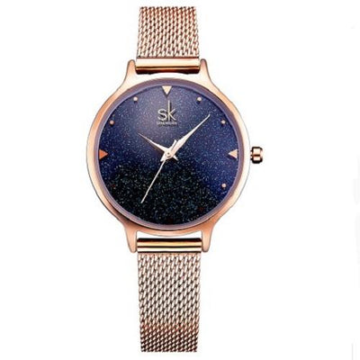 Elegant Quarts Women Rose Gold Watches Women Silver Watches SHENGKE Rose Gold