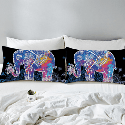 Elephants Bedding Set Animal Print Bedding covers BeddingOutlet