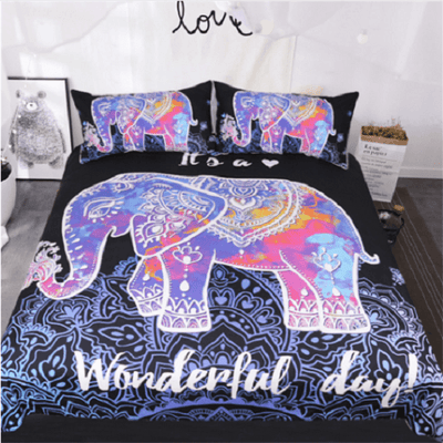 Elephants Bedding Set Animal Print Bedding covers BeddingOutlet Single
