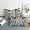 Elephants Colorful Geometric Pillow Case Pillowcases BeddingOutlet 50cmx75cm