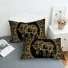Elephants Printed Pillow Case Pillowcases BeddingOutlet 50cmx75cm