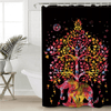 Elephants Shower Curtain Bohemian Print Shower Curtains BeddingOutlet 90x180cm