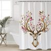Elk Floral Moose Shower Curtain Shower Curtains BeddingOutlet 90x180cm