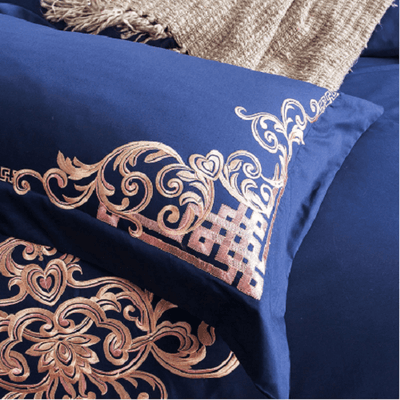 Embroidered Cotton Bedding Sets Embroidered Bed Set Svetanya