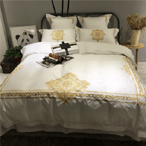Embroidered Luxury Bedding Sets Embroidered Bed Set Svetanya Queen