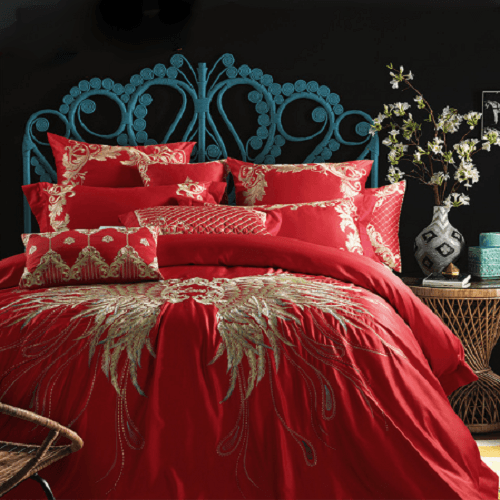Embroidery Wedding Bedding Set Embroidered Bed Set Svetanya single