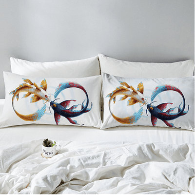 Eternal Bond Cryprinus Carp Pillow Case Pillowcases BeddingOutlet 50cmx75cm