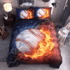 Explosive Baseball Duvet Cover Set Bedding covers Svetanya Sinlge