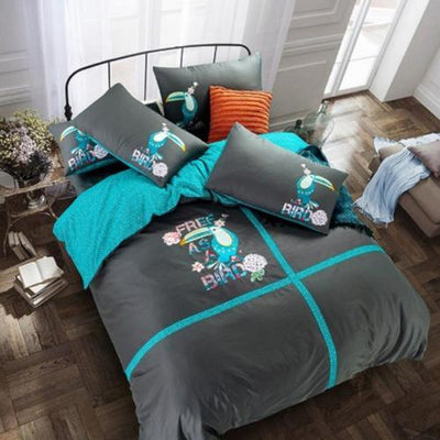 Fashion Embroidered Luxury Bed Set Bedding Cover Set Svetanya single