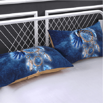 Feather Blue Dream Catcher Bedset Bedding covers BeddingOutlet