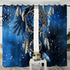 Feathers Blue Galaxy Curtain for Bedroom Window Curtain BeddingOutlet A(2 Pcs) 132x213cm per piece