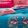 Flamingo Embroidered Bedding Sets Embroidered Bed Set Svetanya