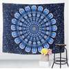 Floral Blue Printed Tapestry Tapestry BeddingOutlet 150cmx130cm