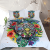 Floral Colorful Tortoise Bedclothes Bedding Cover Set BeddingOutlet Single