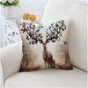Floral Deer Cushion Cover Cushion Cover BeddingOutlet 45cmx45cm