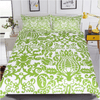 Floral Green and White Bed Set Bedding Cover Set BeddingOutlet Single