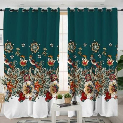 Flower Luxury Living Room Curtain Window Curtain BeddingOutlet W100xH130cm