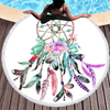 Flowers Feathers Dreamcatcher Beach Towel Beach/Bath Towel BeddingOutlet Diameter 150cm