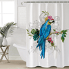 Flowers Macaw Art Shower Curtain Shower Curtains BeddingOutlet 90x180cm