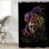 Flowery Skull Monster Bath Curtain Shower Curtains BeddingOutlet 90x180cm