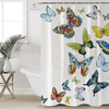 Flying Butterflies Shower Curtain Shower Curtains BeddingOutlet 90x180cm