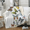 Flying Butterflies Throw Blanket Throw Blanket BeddingOutlet 130cmx150cm