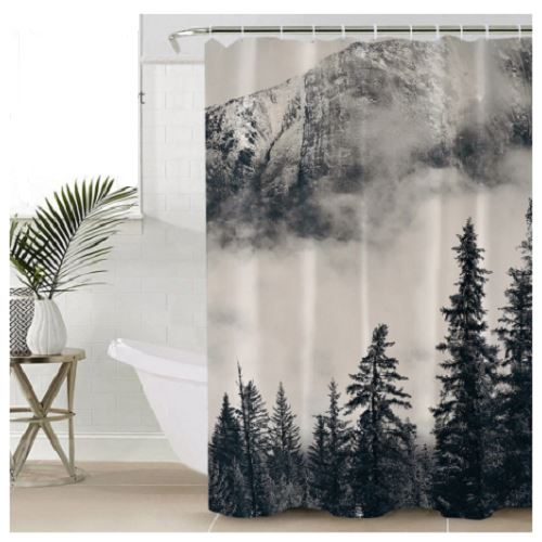 Foggy Mountain Shower Curtain Shower Curtains BeddingOutlet 90x180cm