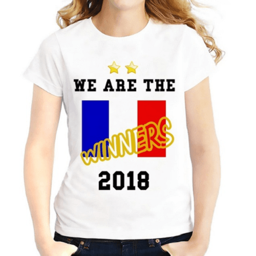 France Team Cheering Women T-Shirts Women T-Shirts JollyPeach S