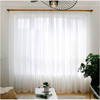 Fresh White Transparent Curtains For Living Room Window Curtain CITYINCITY W150 x H250CM ROD POCKET