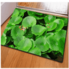 Frog Green Leaves Floor Carpet Door & Floor Mats HUGSIDEA 400MM X 600MM