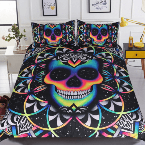 Galaxy Colorful Skull Duvet Cover Bedding Cover Set BeddingOutlet Single