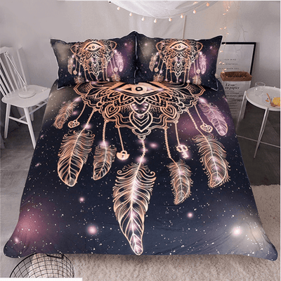 Galaxy Dreamcatcher Luxury Bedding Set Bedding covers BeddingOutlet Single