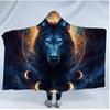 Galaxy Wolf Hooded Blanket Hooded Blanket BeddingOutlet Adults 150(H)x200(W)