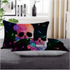Geometric Skull Rose Floral Pillow Cases Pillowcases BeddingOutlet 50x75cm